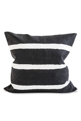 [파인리틀데이_Fine Little Day]Wide Stripes Cushion_Black